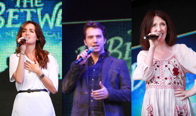 Lauren Samuels, Scott Garnham & Hannah Jane Fox at West End Live (Photos: Pamela Raith)